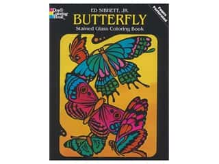 Dover Publications Butterfly Stained Glass Coloring Book