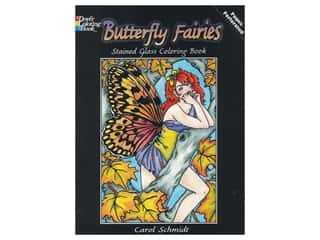 Dover Publications Butterfly Fairies Stained Glass Coloring Book