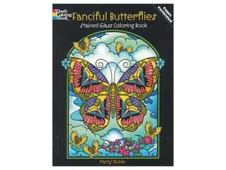 books & patterns: Dover Publications Fanciful Butterflies Stained Glass Coloring Book