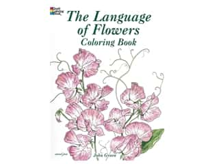 Dover Publications The Language Of Flowers Coloring Book