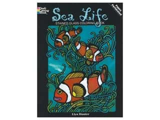 books & patterns: Dover Publications Sea Life Stained Glass Coloring Book