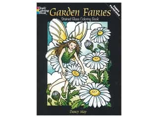 floral & garden: Dover Publications Garden Fairies Stained Glass Coloring Book
