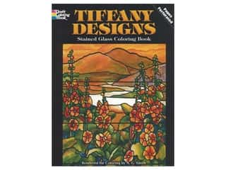 Dover Publications Tiffany Designs Stained Glass Coloring Book