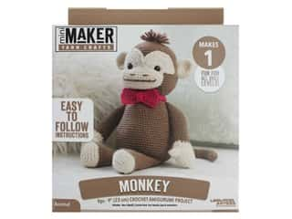 yarn & needlework: Leisure Arts Kit Mini Maker Amigurumi Monkey