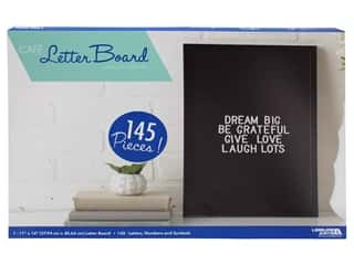 craft & hobbies: Leisure Arts Letter Board 11 in. x 16 in. Black