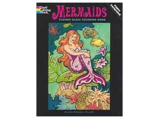 books & patterns: Dover Publications Mermaids Stained Glass Coloring Book
