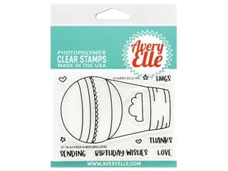 Avery Elle Clear Stamp Peek-A-Boo Balloon