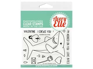 Avery Elle Clear Stamp Shark Hugs