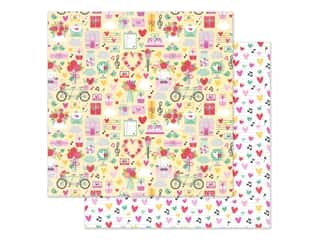 Doodlebug Collection Love Notes Paper 12 in. x 12 in. Love Notes (25 pieces)