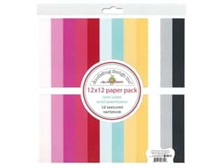 Doodlebug Collection Love Notes Paper Pack 12 in. x 12 in. Solid