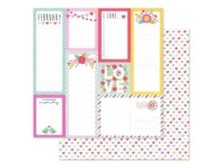 scrapbooking & paper crafts: Doodlebug Collection Love Notes Paper 12 in. x 12 in. Conversation Heart (25 pieces)