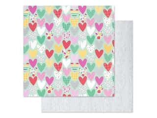 Doodlebug Collection Love Notes Paper 12 in. x 12 in. Sweet Hearts (25 pieces)
