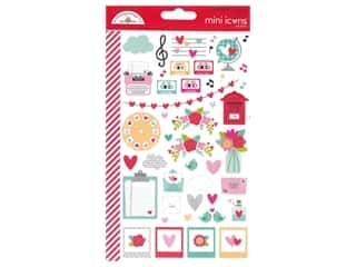 Doodlebug Mini Icons Stickers - Love Notes