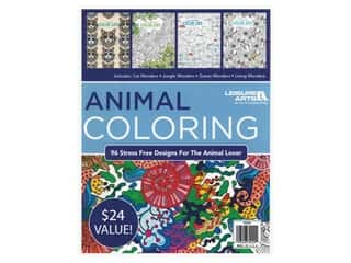 decorative floral: Leisure Arts Animal Coloring Book Bundle