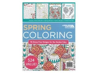 books & patterns: Leisure Arts Spring Coloring Book Bundle