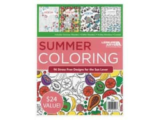 Leisure Arts Summer Coloring Book Bundle