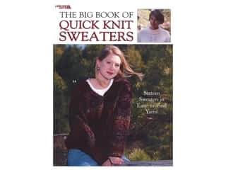 Leisure Arts The Big Book of Quick Knit Sweaters Book