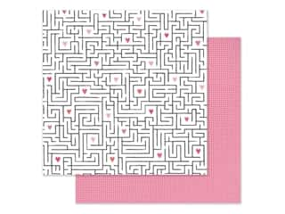 scrapbooking & paper crafts: Pink Paislee Collection Lucky Us Paper 12 in. x 12 in. Paper 11 (25 pieces)
