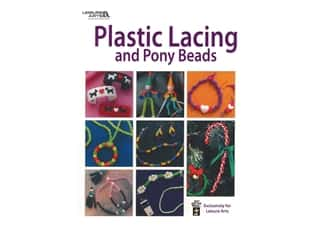 beading & jewelry making supplies: Leisure Arts Plastic Lacing And Pony Beads Book