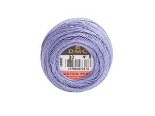 yarn & needlework: DMC Pearl Cotton Ball Size 8 #0030 Medium Light Blueberry (10 balls)