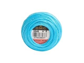 DMC Pearl Cotton Ball Size 8 #3846 Turquoise (10 balls)