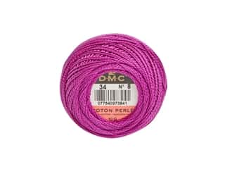 DMC Pearl Cotton Ball Size 8 #0034 Dark Fuchsia (10 balls)