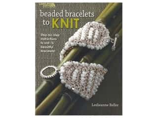 beading & jewelry making supplies: Leisure Arts Beaded Bracelets To Knit Book
