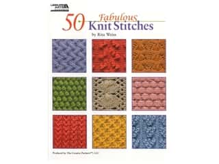 diamond art: Leisure Arts 50 Fabulous Knit Stitches Book
