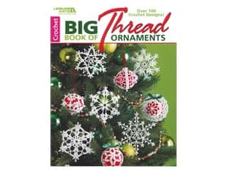 books & patterns: Leisure Arts Big Crochet Book Of Thread Ornaments Crochet Book