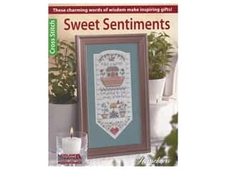 Leisure Arts Herrschners Cross Stitch Sweet Sentiments Book