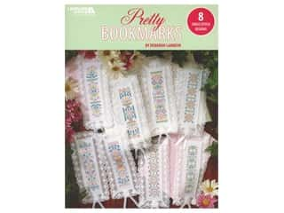 Leisure Arts Pretty Bookmarks 8 Cross Stitch Book