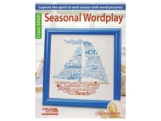 Leisure Arts Seasonal Wordplay Cross Stitch Book