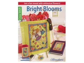 Leisure Arts Bright Blooms Cross Stitch Book