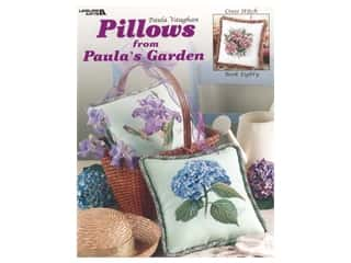 Leisure Arts Pillows From Paula's Garden Cross Stitch Book