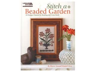 Leisure Arts Stitch A Beaded Garden Cross Stitch Book