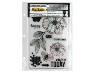 American Crafts Collection Vicki Boutin Wildflower & Honey Stamp & Die Set Floral