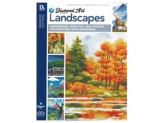 beading & jewelry making supplies: Diamond Art By Leisure Arts Landscapes Painting Charts & Idea Book