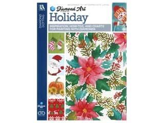 beading & jewelry making supplies: Diamond Art By Leisure Arts Freestyle Diamond Dotting Holiday Painting Charts & Idea Book