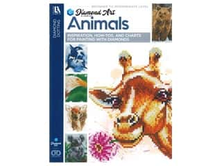 beading & jewelry making supplies: Diamond Art By Leisure Arts Freestyle Diamond Dotting Animals Painting Charts & Idea Book