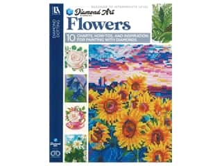 beading & jewelry making supplies: Diamond Art By Leisure Arts Flowers Painting Charts & Idea Book