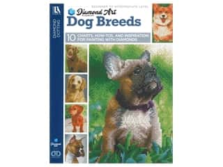 beading & jewelry making supplies: Diamond Art By Leisure Arts Freestyle Diamond Dotting Dog Breeds Painting Charts & Idea Book