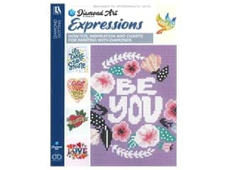 beading & jewelry making supplies: Diamond Art By Leisure Arts Freestyle Diamond Dotting Expressions Painting Charts & Idea Book