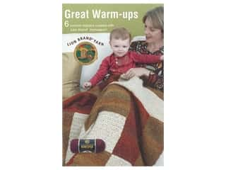 yarn: Leisure Arts Lion Brand Yarn Great Warm Ups Book