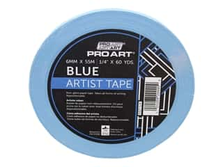 glues, adhesives & tapes: Pro Art Tape Artist .25 in. x 60 yd Blue