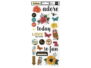 scrapbooking & paper crafts: American Crafts Collection Vicki Boutin Wildflower & Honey Sticker 6 in. x 12 in.