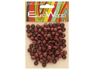 beading & jewelry making supplies: John Bead Wood Bead Round Large Hole 8 mm x 6.5 mm Mahogany