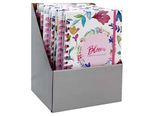 elastic: Darice Books Journal Hardcover PDQ Flower 8 pc