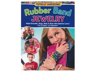 beading & jewelry making supplies: Design Originals Awesome Rubber Band Jewelry Book