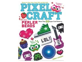 beading & jewelry making supplies: Design Originals Pixel Craft With Perler Beads Book