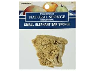 Pro Art Sponge Natural Elephant Ear 2 in. - 3 in. Small